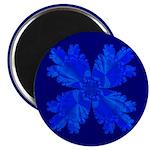 Blue Flower Fractal Magnet