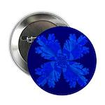 Blue Flower Fractal Button