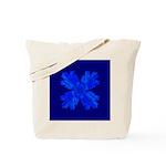 Blue Flower Fractal Tote Bag