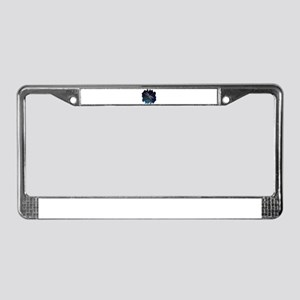Dragonfly at Night License Plate Frame