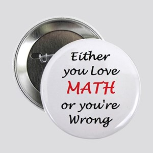 "love math or 2.25"" Button"