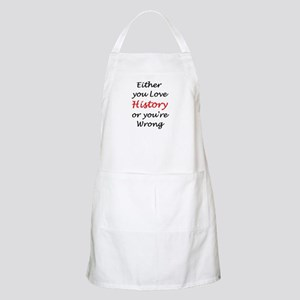 love history or Apron