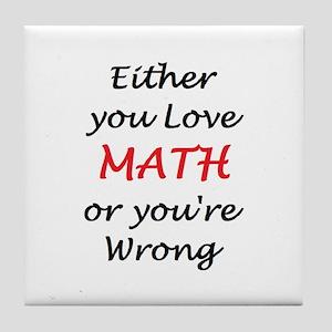 love math or Tile Coaster