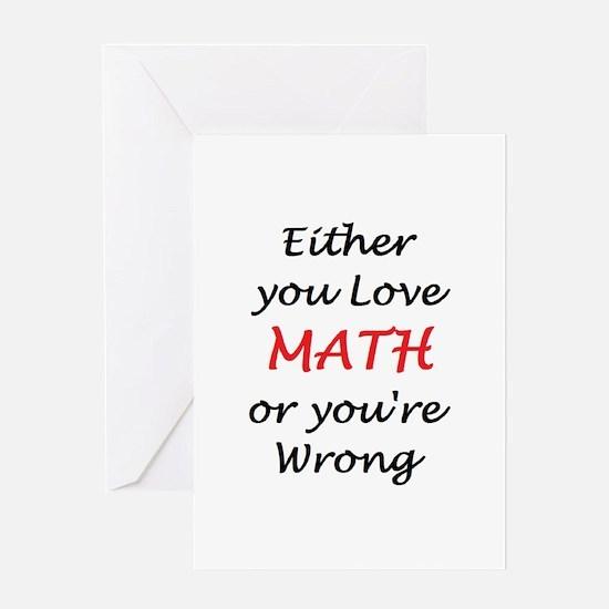 love math or Greeting Card