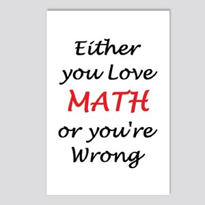 love math or Postcards (Package of 8)
