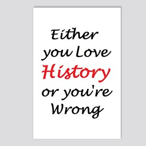 love history or Postcards (Package of 8)