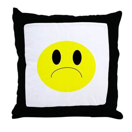 frown Throw Pillow