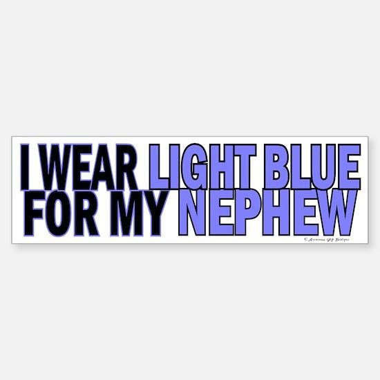 I Wear Light Blue For My Nephew 5 Bumper Bumper Bumper Sticker