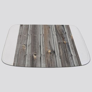signed by the weather as old wood backgrou Bathmat