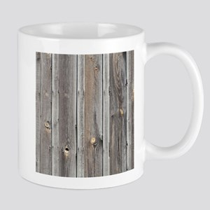 signed by the weather as old wood background Mugs