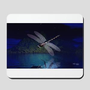 Dragonfly at Night Mousepad