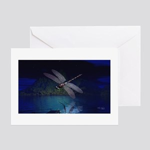 Dragonfly at Night Greeting Card