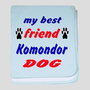 My Best Friend Komondor Dog baby blanket