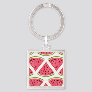 Watermelon Square Keychain