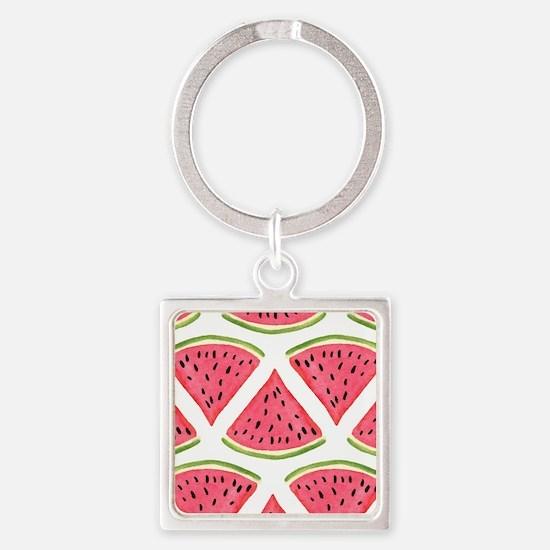 Watermelon Square Keychain