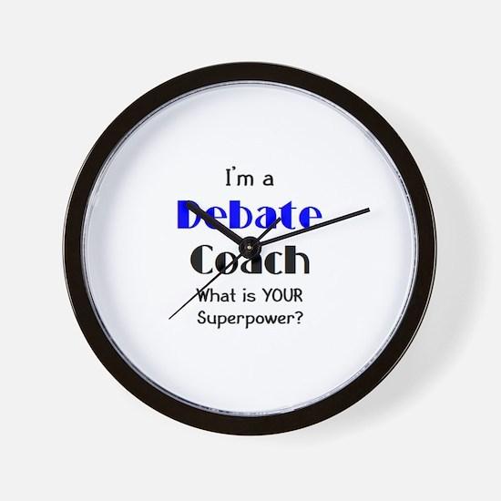 debate coach Wall Clock
