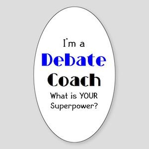 debate coach Sticker (Oval)
