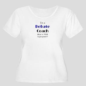 debate coach Women's Plus Size Scoop Neck T-Shirt