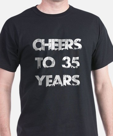 Cheers To 35 Years Designs T-Shirt