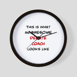 awesome debate coach Wall Clock