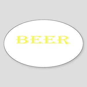 Beer Oval Sticker