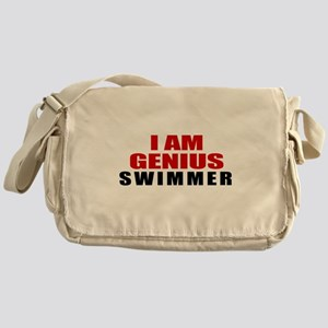I Am Genius Swimmer Messenger Bag