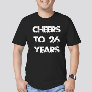 Cheers To 26 Years Des Men's Fitted T-Shirt (dark)
