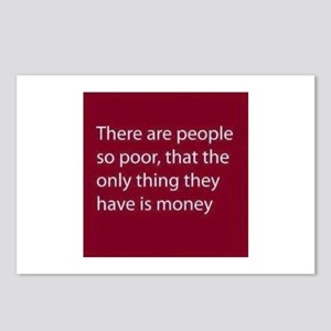 There are people so poor, Postcards (Package of 8)