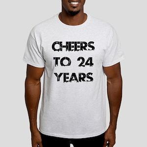 Cheers To 24 Years Designs Light T-Shirt