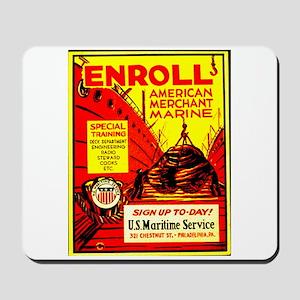 American Merchant Marine Mousepad
