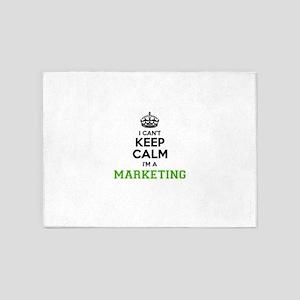 Marketing I cant keeep calm 5'x7'Area Rug