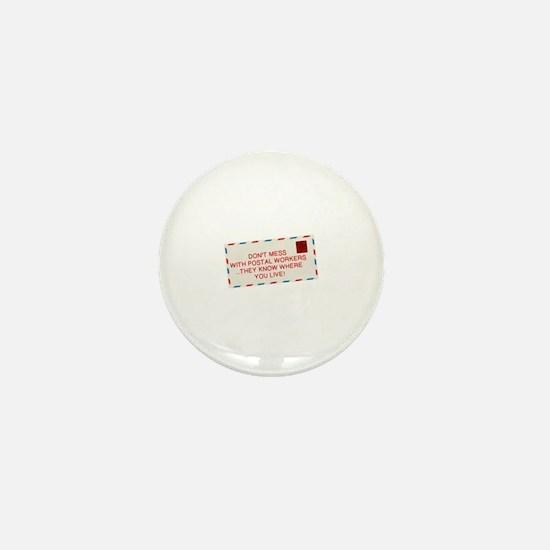 Cute Postal Mini Button