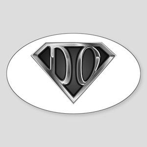 SuperDO(metal) Oval Sticker