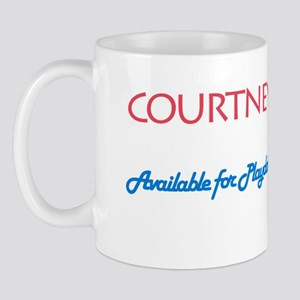 Courtney - Available For Play Mug