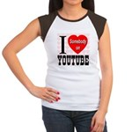 I Love Somebody On YouTube Women's Cap Sleeve T-Sh