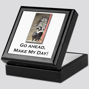 Make My Day Skunk Keepsake Box