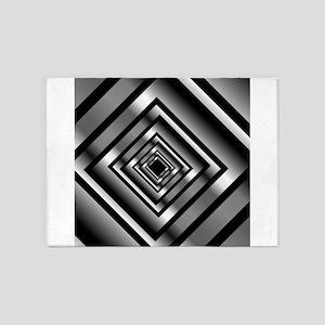 Depth with metallic squares 5'x7'Area Rug