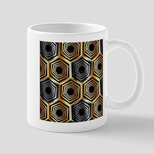 Golden and silver hexagonal background Mugs