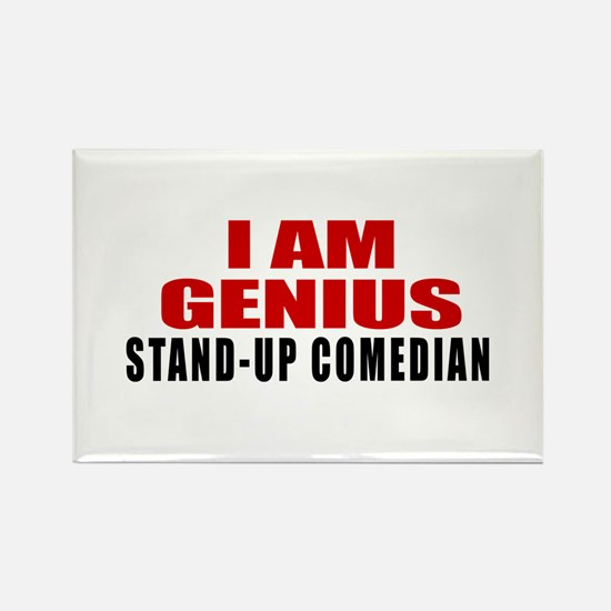 I Am Genius Stand-up comedian Rectangle Magnet