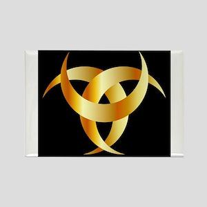 Horned Triskele- The horn of Odin Magnets