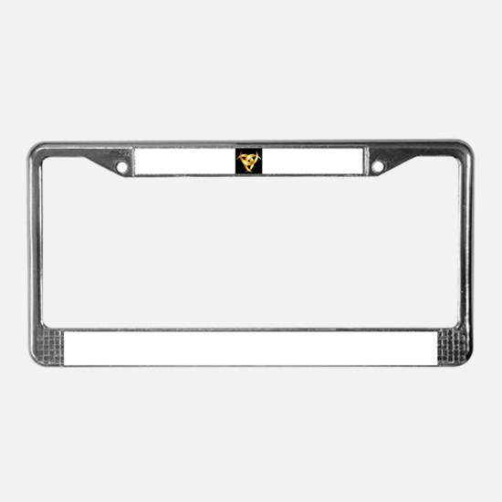 Horned Triskele- The horn of O License Plate Frame