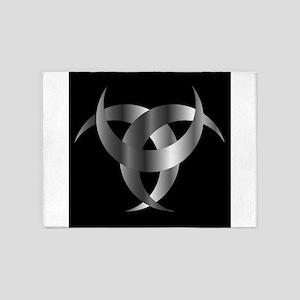 Horned Triskele- The horn of Odin 5'x7'Area Rug