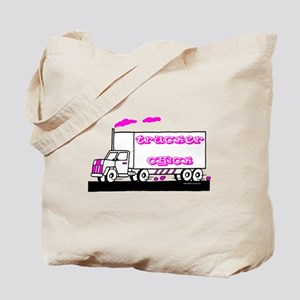 Trucker Chick Tshirt and Gift Tote Bag