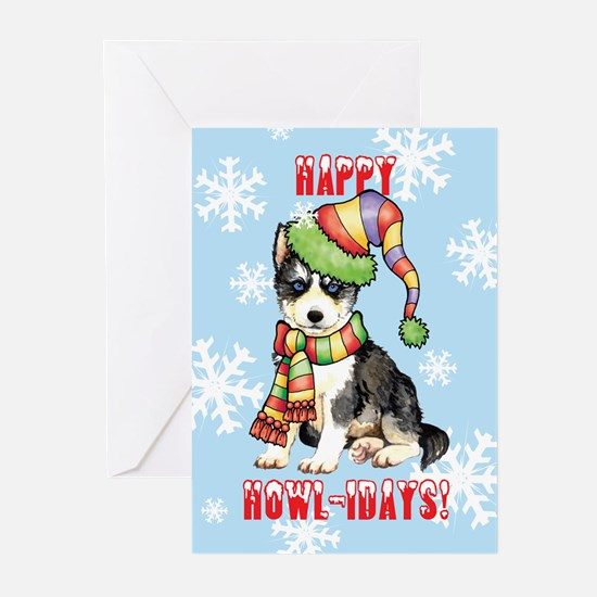 Holiday Husky Greeting Cards (Pk of 10)