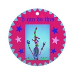 Round Ornament I Can Do This Badge For Kids