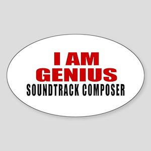 I Am Genius Soundtrack composer Sticker (Oval)