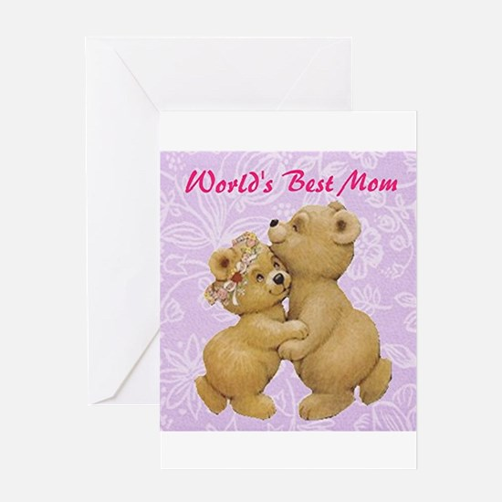 Worlds Best Mom Cute Mothers Day Greeting Cards