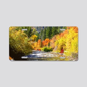 Wood camp Aluminum License Plate