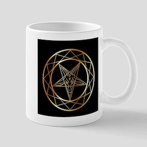 Golden sigil of Baphomet Mugs