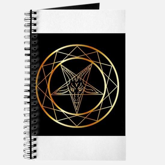 Golden sigil of Baphomet Journal